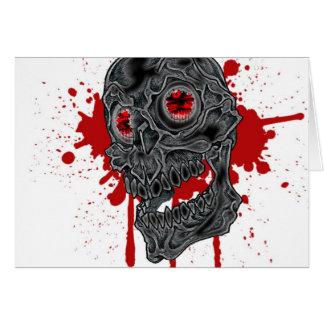 Spooky Yet Goofy Drip Skull design Card