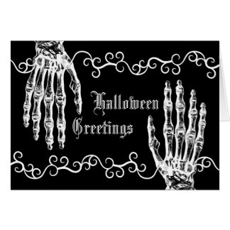 Spooky zombie hands card