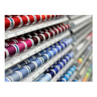 Spools of Sewing Thread Postcard