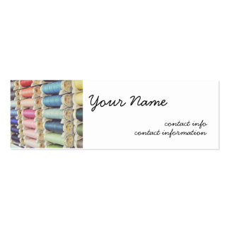 Spools of thread pack of skinny business cards