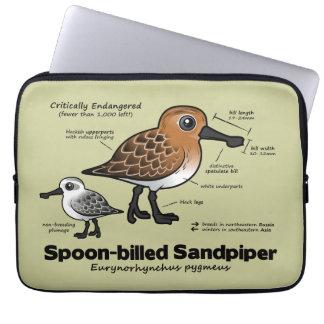 Spoon-billed Sandpiper Statistics Laptop Sleeve