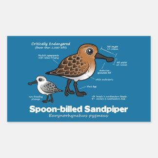 Spoon-billed Sandpiper Statistics Rectangular Sticker