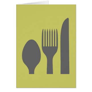 Spoon, Knife & Fork Graphic Greeting Card