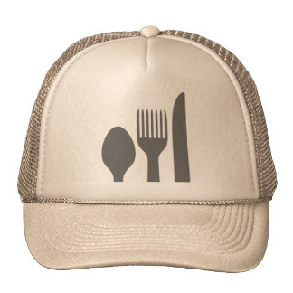 Spoon, Knife & Fork Graphic Trucker Hats