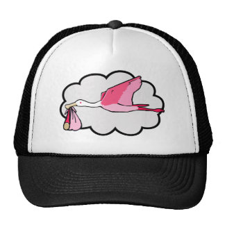 Spoonbill Carrying Baby for Delivery Trucker Hat