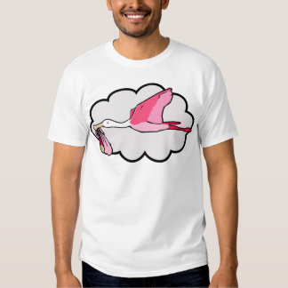 Spoonbill Carrying Baby for Delivery T-shirts