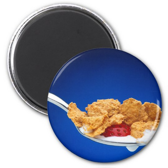 Spoonful of Cereal 6 Cm Round Magnet