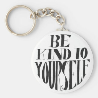 Spoonie-Be Kind to Yourself keyring-ChronicIllness Basic Round Button Key Ring
