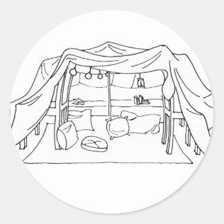 Spoonie-Pillow/Blanket Fort-Chronic Illness Round Sticker