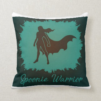 Spoonie Warrior Square Throw Pillow
