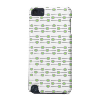 Spoons Pattern, with Green Splat. iPod Touch (5th Generation) Case