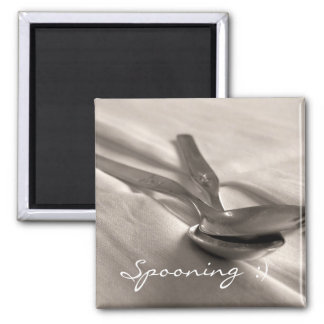 Spoons Square Magnet