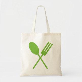 Spork Green Tote Bag