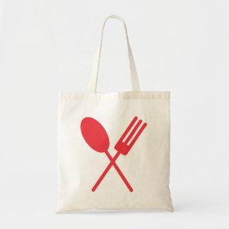Spork Red Tote Bag