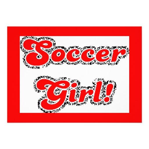 sport3 soccer girl sports fans red glitter text custom announcements