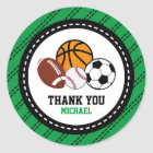 Sport All Star Party Thank You Favour Tag