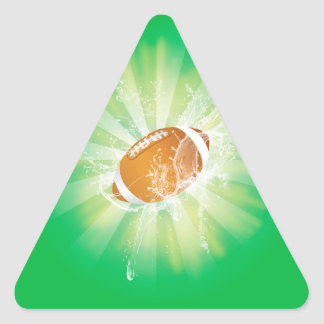 Sport, american football with water splash triangle sticker