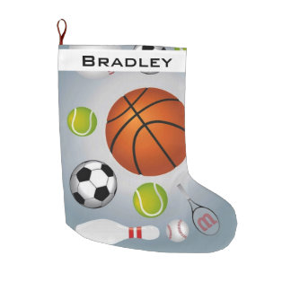 Sport Balls on Christmas Stocking