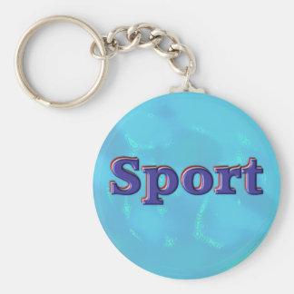 Sport Basic Round Button Key Ring