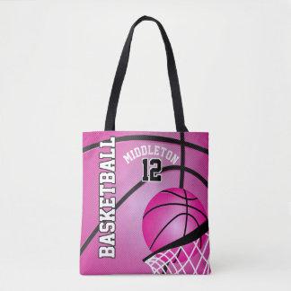 Sport Basketball | DIY Text - Pink Tote Bag