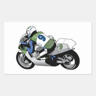 Sport Bike Motorcycle Rectangle Sticker