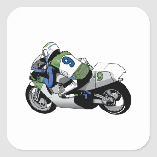 Sport Bike Motorcycle Square Sticker