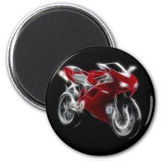 Sport Bike Racing Motorcycle 6 Cm Round Magnet