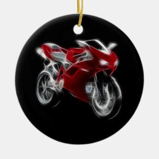 Sport Bike Racing Motorcycle Christmas Ornament