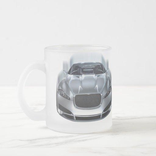 Sport car in motion coffee mug