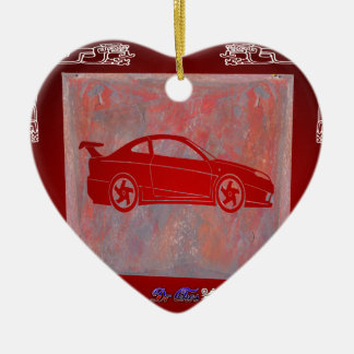 SPORT CAR RED CUSTOMIZABLE PRODUCTS CHRISTMAS ORNAMENT