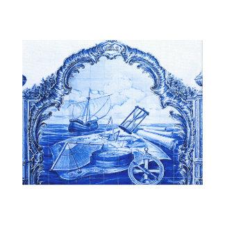 Sport Club Portuguese Tile Canvas