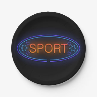 Sport concept. 7 inch paper plate