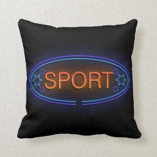Sport concept. cushion