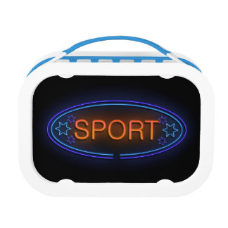 Sport concept. lunch box