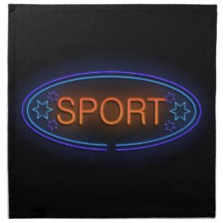 Sport concept. napkin