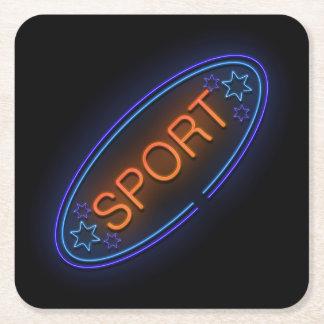 Sport concept. square paper coaster