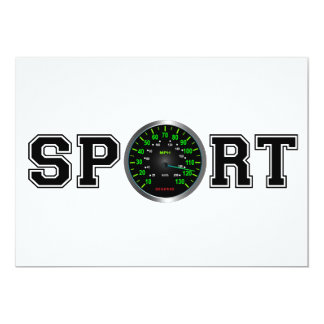 Sport (Cool Speed Emblem) 13 Cm X 18 Cm Invitation Card