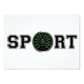 Sport (Cool Speed Emblem) 13 Cm X 18 Cm Invitation Card
