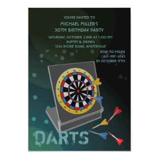 Sport Darts - Invitation