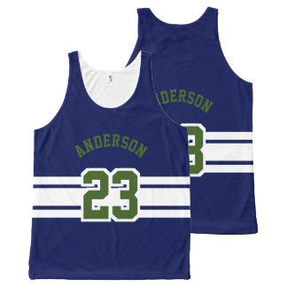 Sport Design - Name, Team, Number, Color All-Over Print Tank Top