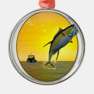 Sport Fishing at Dawn Christmas Ornament