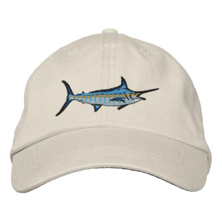 Sport Fishing Blue Marlin Embroidery Baseball Cap