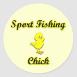 Sport Fishing Chick Stickers