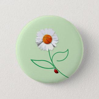 Sport flower 6 cm round badge