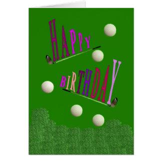 Sport Golf Happy Birthday Greeting Card / Invitati