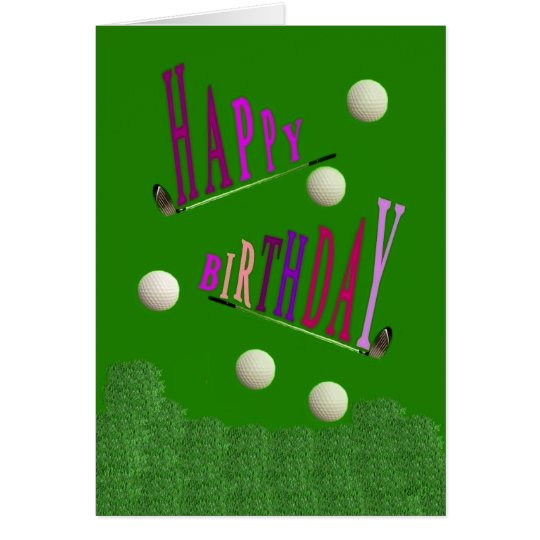 Sport Golf Happy Birthday Greeting Card / Invitati