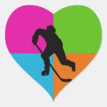sport - ice hockey heart stickers
