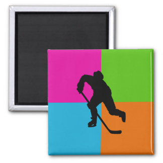 sport - ice hockey square magnet