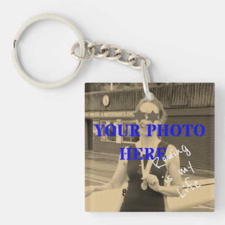 Sport is my Life custom photo and text memento Key Ring