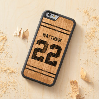 Sport Jersey Number Wood iPhone 6 Cherry iPhone 6 Bumper